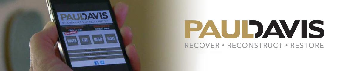 paul davis website on a cell phone screen