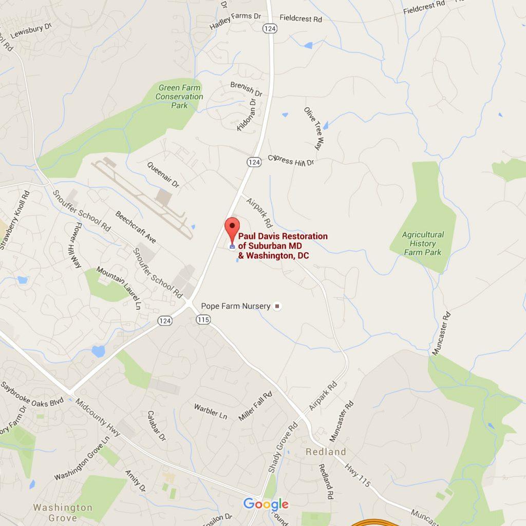 Paul Davis Gaithersburg Maryland Map