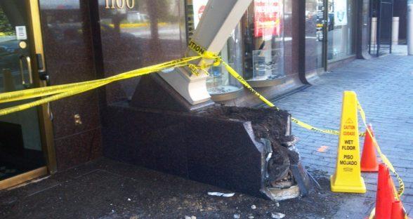 vehicle into building damage