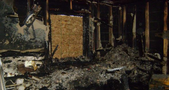 Kitchen Gutted by Fire
