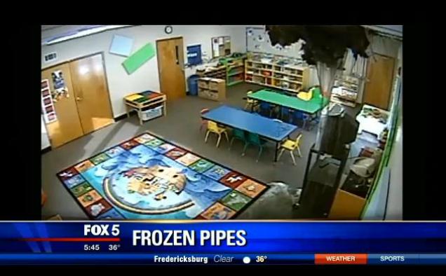 frozen pipe news