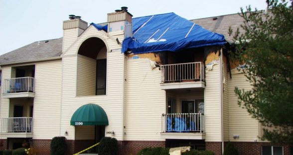 Fire Damaged Multi Unit Residential Building