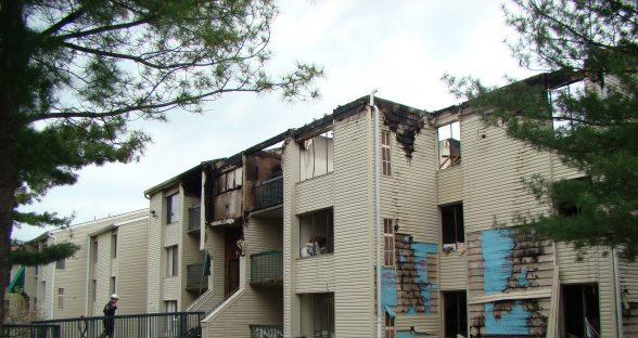 Multi Unit Residential Building Damaged by Fire