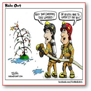 Christmas holiday fire safety tip.