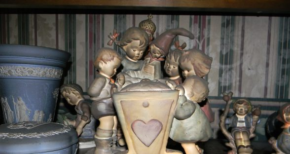 Porcelain Figurine damaged by smoke