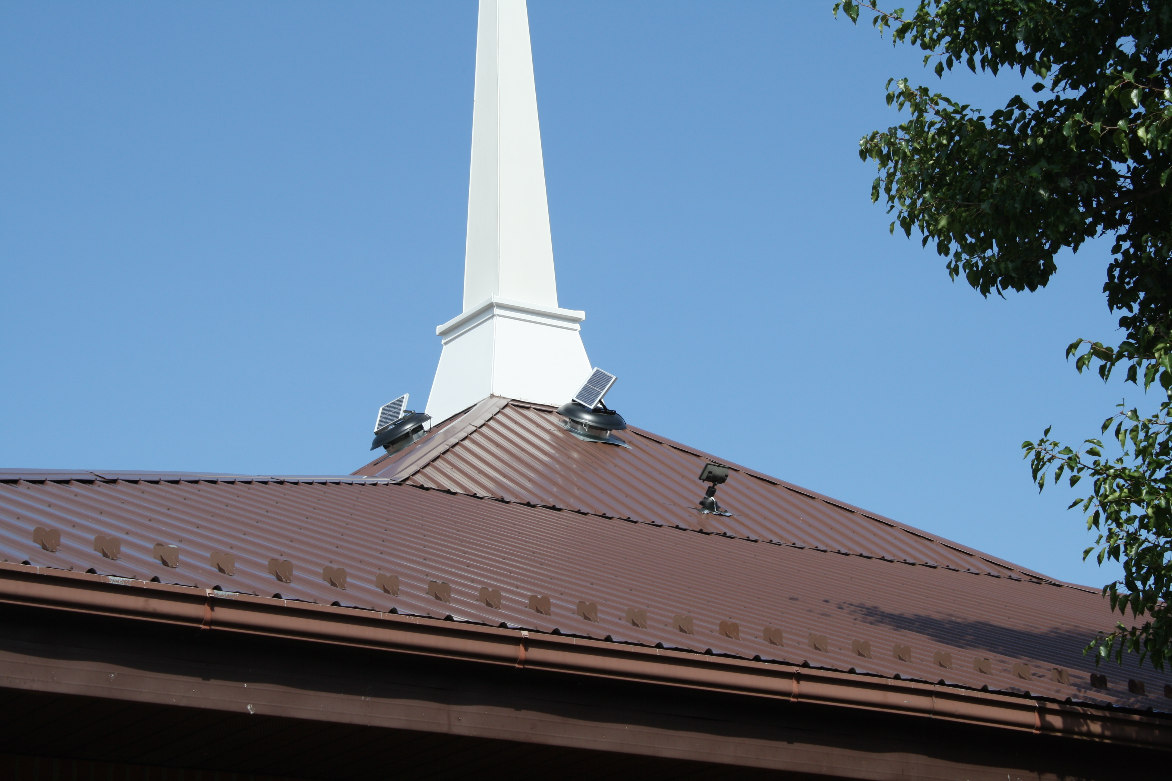 church exterior after mold removal