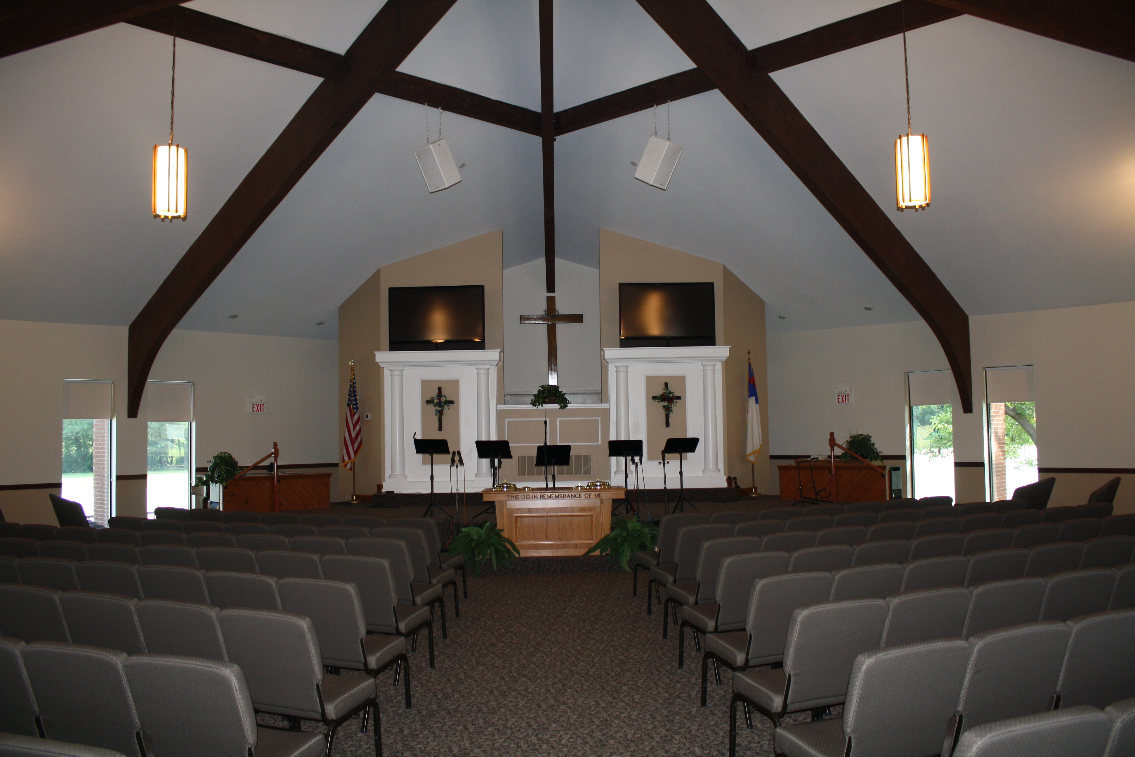 church interior after mold removal