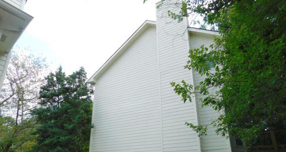 After fire restoration to chimney