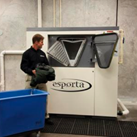 """Here is the star of our Esporta wash system. It can clean even sewage exposed items to """"food grade"""" clean!"""