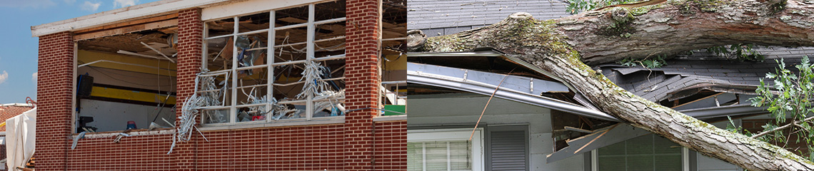 Storm damage repair by Paul Davis Restoration of Greater St. Paul, MN