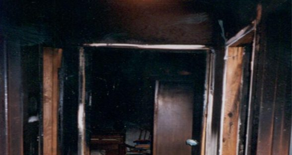 Interior fire damage before pic