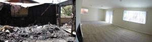 Fire Damage before and after