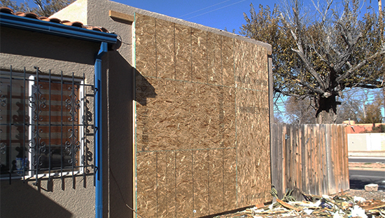 House Fire Restoration - Boarded Up - Paul Davis Restoration of New Mexico