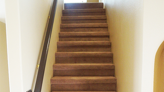 Staircase Fire Damaged Restored and Remodeled - Paul Davis Restoration of New Mexico