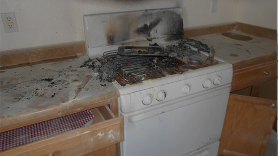 Fire Damaged Kitchen - Paul Davis Restoration of New Mexico