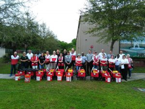 All of the volunteers from the Red Cross smoke alarm installation rally