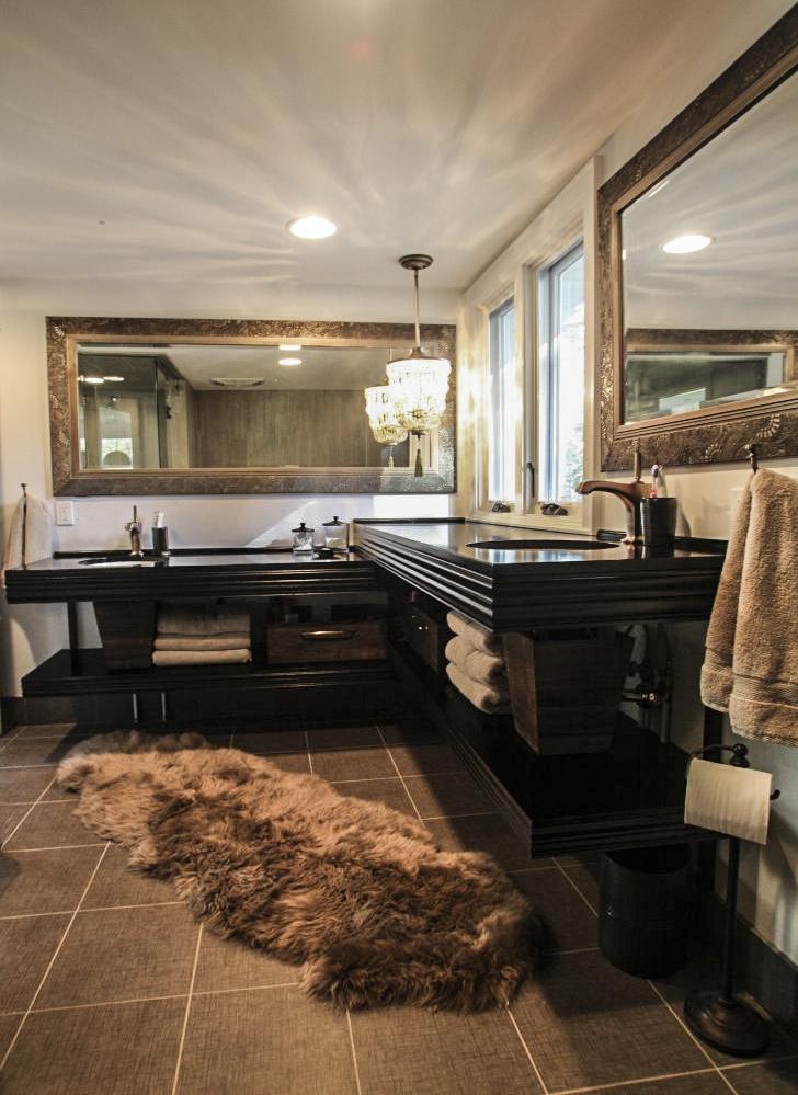 Dual Vanity Sink Remodel Fox Point Bathroom
