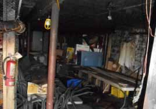 Bourbon & Tunns Tavern Basement After Chemical Fire Damage