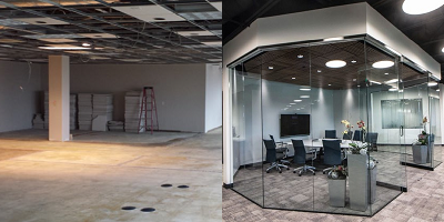 Before & After Commercial Space Remodel - Paul Davis WI