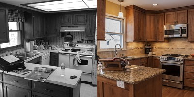 Fox Point Kitchen Before & After Remodel - Paul Davis WI