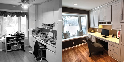 Before & After Home Office Renovation - Paul Davis WI
